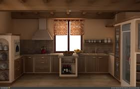 rustic open kitchen design high ceiling marble countertops white