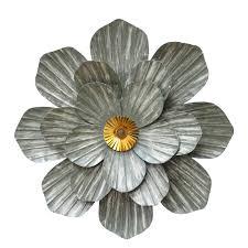imax astaire flower metal wall art set of 3 hayneedle