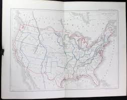 United States And Canada Map by 1856 French Map Of The United States And Canada By Dussieux