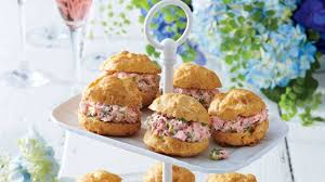cheese puffs with ham salad recipe southern living