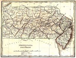 Map Nj Tngenweb Pennsylvania New Jersey 1835 Map