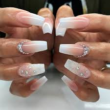 25 fancy white coffin nails bright and fasionable designs