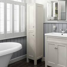 1600mm tall ivory floor standing bathroom furniture cabinet