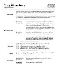 free resume templates   Ms Word Resume Templates Resume Format Ms Word  Resume Template Pertaining To     Brefash