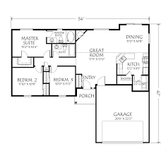 Open Floor Plans For Houses One Story Ranch Style House Plans Traditional House Plan First