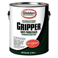 Home Depot Interior Paint Colors by Glidden Professional 1 Gal Gripper White Primer Sealer Gpg 0000