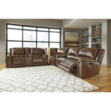 Ashley Furniture Loveseat Recliner Ashley Furniture Jayron Reclining Power Sectional In Harness