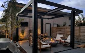 ultra modern backyard outdoor living area highlands mile high