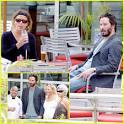 Keanu Reeves & Girlfriend: Dinner Date   Keanu Reeves : Just Jared