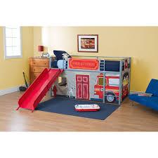 boys u0027 fire department twin loft bed with slide red kids u0027 u0026 teen