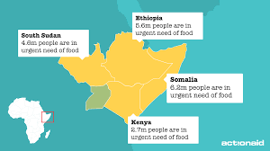 Map Of Kenya Africa by Food Crisis In East Africa 2017 Actionaid Uk