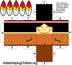 thanksgiving and indians how to make an indian boy out of paper with printable foldable