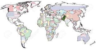 Pakistan On The Map Old Political Map Of World With Flag Pakistan Stock Photo For Where Is On The Jpg