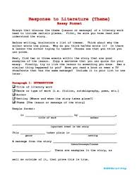 college essay paper format