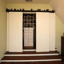 santa barbara interior barn door closet traditional with buit in