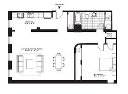 Two Bedroom Apartment Floor Plans Brilliant One Bedroom Apartment Open Floor Plans Layout Ideas