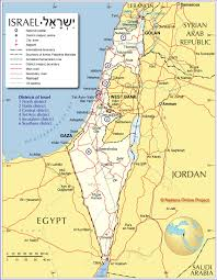 Jordan Country Map Administrative Map Of Israel Nations Online Project