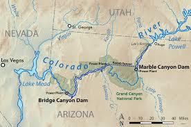 Lake Powell Map Bridge Canyon Dam Wikipedia