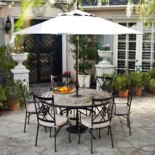 Round Dining Table Sets For 6 Palazetto Barcelona 60 In Round Mosaic Patio Dining Set Seats 6