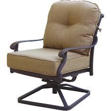 Club Swivel Chair Darlee Santa Monica Cast Aluminum Patio Swivel Rocker Club Chair