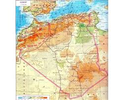 Physical Map Of Africa by Maps Of Algeria Detailed Map Of Algeria In English Tourist Map