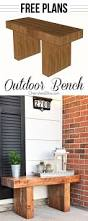Wooden Bench Plans To Build by Best 25 White Outdoor Bench Ideas On Pinterest Outdoor Benches