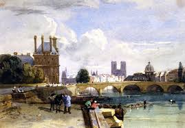 David Cox by A View Of The Pavillon De Flore And The Tuileries From The Seine