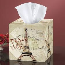 greetings from paris tissue box cover furniture home decor and