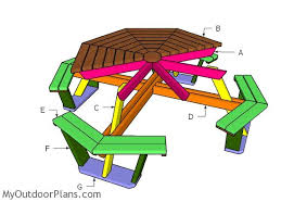 octagonal picnic table plans free myoutdoorplans free