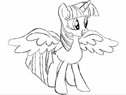 My Little Pony Colouring Pages My Little Pony Twilight Sparkle Coloring Pages Getcoloringpages Com