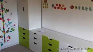 ikea stuva childrens wardrobe green and white youtube