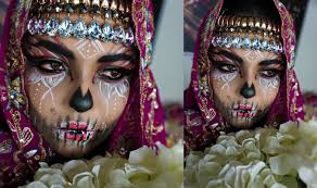 Indian Halloween Makeup Halloween Tutorial Tribal Sugar Skull Makeup Tutorial