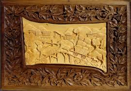 wood carved wall art image is loading hand carved wall art teak