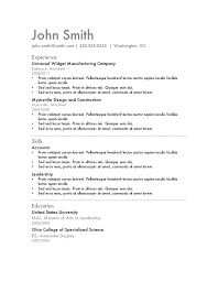 Simple Resume Examples by Resume Examples Cool Cute Easy Free And Simple Resume Template