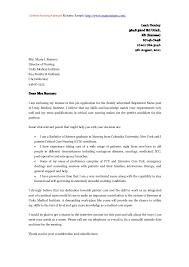 Job Application Letter For Nursing Position Job