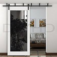 Sliding Barn Closet Doors by Amazon Com Diyhd 6 6ft Ceiling Mount Rustic Black Bent Straight