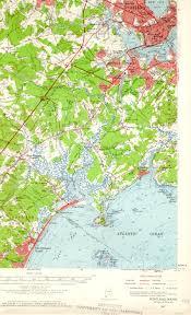 Map Of Portland Maine by Portland Me Quadrangle