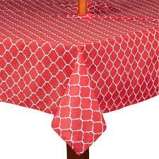 Tablecloth For Umbrella Patio Table by Lattice Indoor Outdoor Umbrella Tablecloth Christmas Tree Shops