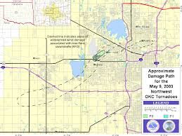 Oklahoma City Map The May 9 2003 Central Oklahoma Tornadoes