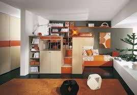 bedroom design creative brown solid wood wall shelves bedroom