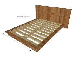Plans For Wooden Platform Bed by Bed Frames Rustic Platform Bed With Drawers Reclaimed Wood