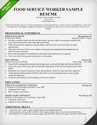 Sample Resumes For Professionals by Food Service Worker Resume Sample Use This Food Service Industry