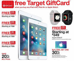 black friday target map store target offering up to 150 in store gift cards for apple ipads