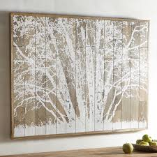 frosted tree planked wall decor pier 1 imports