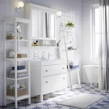 bathroom furniture ideas ikea white bathroom with hemnes washstand shelf and mirror cabinet plus