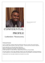Retail Professional Summary Cv For Lushendren Naransammy 2016 V2