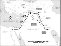 Exodus Route Map by Net Bible Maps Bible Org