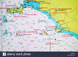 Tuscany Map Screenshot Of Nautical Chart Of Tuscany Coast And Islands Of Stock