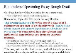Personal Narrative Essay Draft A Jpg Money Essay Spm College Resume