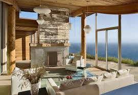 Rustic Modern House Overlooking The Ocean In Big Sur IDesignArch - Modern rustic home design